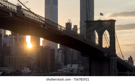 New York/America - June 14 2016 : Sunset in Manhattan.