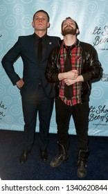 NEW YORK-APR 14: Actor Billy Magnussen (L) and guest attend the Broadway opening night for 'It Shoulda Been You' at Brooks Atkinson Theatre on April 14, 2015 in New York City.