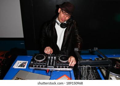 "NEW YORK-APR 24: DJ Mikey ""Lights"" Muniz spins at the Filmmaker Industry Party at Spin during the 2014 Tribeca Film Festival on April 24, 2013 in New York City."
