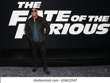 "NEW YORK-APR 8: Actor Dwayne Johnson attends the premiere of ""The Fate of the Furious"" at Radio City Music Hall on April 8, 2017 in New York City."