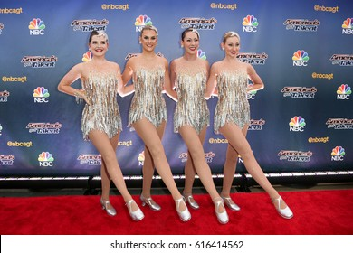 NEW YORK-AUG 11: The Rockettes attend the 'America's Got Talent' season 10 taping at Radio City Music Hall on August 11, 2015 in New York City.