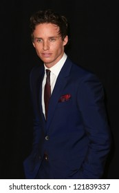"""NEW YORK-DEC 10: Actor Eddie Redmayne attends the premiere of """"Les Miserables"""" at the Ziegfeld Theatre on December 10, 2012 in New York City."""