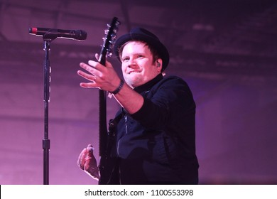 NEW YORK-DEC 10: Patrick Stump of Fall Out Boy performs onstage at Pandora's Holiday Show at Pier 36 on December 10, 2015 in New York City.