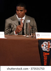 NEW YORK-DEC 11: Cam Newton, quarterback for the Auburn Tigers, attends the 2010 Heisman Memorial Trophy Award press conference at the Marriott Marquis on December 11, 2010 in New York City.