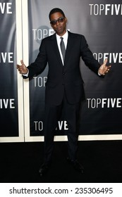 """NEW YORK-DEC 3: Comedian/actor Chris Rock attends the """"Top Five"""" premiere at the Ziegfeld Theatre on December 3, 2014 in New York City."""