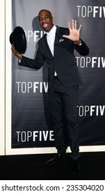 "NEW YORK-DEC 3: Comedian/actor J.B. Smoove attends the ""Top Five"" premiere at the Ziegfeld Theatre on December 3, 2014 in New York City."