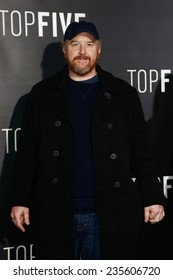 """NEW YORK-DEC 3: Comedian/actor Louis C.K. attends the """"Top Five"""" premiere at the Ziegfeld Theatre on December 3, 2014 in New York City."""