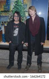 NEW YORK-DEC 4: John Rzeznik (R) and Robby Takac of the Goo Goo Dolls attend the 81st Annual Rockefeller Center Christmas Tree Lighting ceremony on December 4, 2013 in New York City.