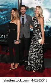 """NEW YORK-DEC 7: (L-R) Renee Puente, Matthew Morrison and Marlett attend the New York premiere of """"In the Heart of the Sea"""" at Frederick P. Rose Hall on December 7, 2015 in New York City."""