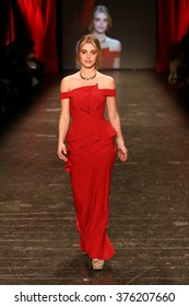 NEW YORK-FEB 11: Lele Pons wears Black Halo Eve at Go Red for Women Red Dress Collection 2016 Presented by Macy's at New York Fashion Week at Moynihan Station on February 11, 2016 in New York City.