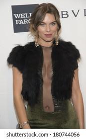 NEW YORK-FEB 5: Model Liliana Nova attends the 2014 amfAR New York Gala at Cipriani Wall Street on February 5, 2014 in New York City.