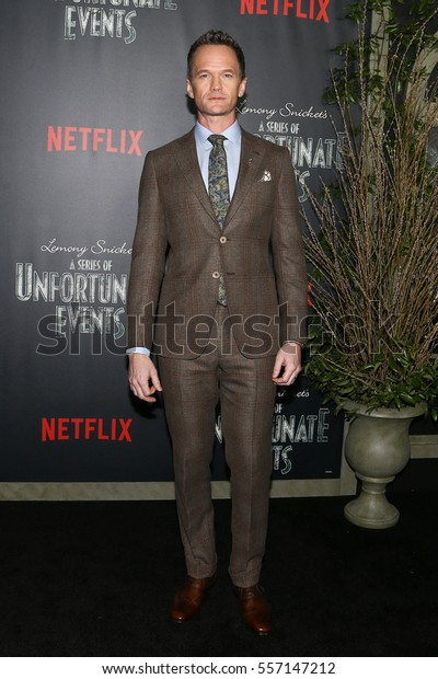 """NEW YORK-JAN 11: Actor Neil Patrick Harris attends the premiere of NETFLIX's Lemony Snicket's """"A Series of Unfortunate Events"""" at AMC Loews Lincoln 13 Theater on January 11, 2017 in New York City."""