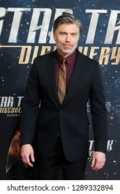 """NEW YORK-JAN 17: Anson Mount attends the """"Star Trek: Discovery"""" Season 2 premiere at Conrad New York on January 17, 2019 in New York City."""