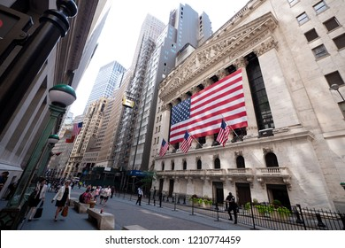 new york-jul 11th,2018:new york stock exchange in wall street