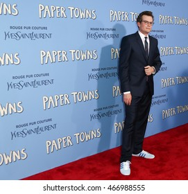 "NEW YORK-JUL 21: Author John Green attends the ""Paper Towns"" premiere at AMC Loews Lincoln Square on July 21, 2015 in New York City."