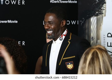 "NEW YORK-JUL 31: Idris Elba attends the special screening of ""The Dark Tower"" at the Museum of Modern Art on July 31, 2017 in New York City."
