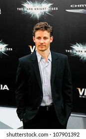 """NEW YORK-JULY 16: Actor Will Estes attends the world premiere of """"The Dark Knight Rises"""" at AMC Lincoln Square Theater on July 16, 2012 in New York City."""