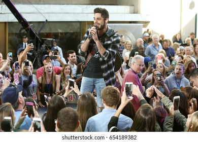 NEW YORK-JUN 2: Thomas Rhett performs on NBC's Today Show at Rockefeller Plaza on June 2, 2017 in New York City.