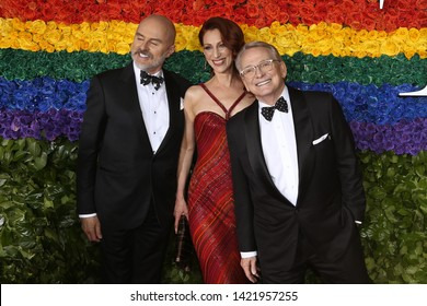 NEW YORK-JUN 9: (L-R) Joe McFate, Kate Coll and Bob Mackie attend the 73rd Annual Tony Awards on June 9, 2019 at Radio City Music Hall in New York City.