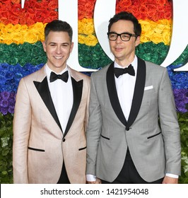 NEW YORK-JUN 9: Todd Spiewak (L) and Jim Parsons attend the 73rd Annual Tony Awards on June 9, 2019 at Radio City Music Hall in New York City.