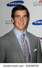 NEW YORK-JUNE 4: New York Giants quarterback Eli Manning attends Samsung's Annual Hope for Children gala at the American Museum of Natural History on June 4, 2012 in New York City.