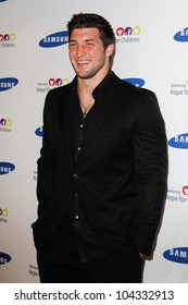 NEW YORK-JUNE 4: New York Jets quarterback Tim Tebow attends Samsung's annual Hope for Children gala at the American Museum of Natural History on June 4, 2012 in New York City.