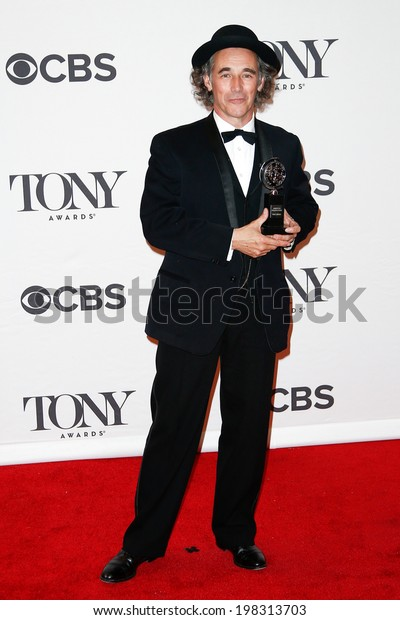 NEW YORK-JUNE 8: Actor Mark Rylance poses in the press room at the American Theatre Wing's 68th Annual Tony Awards at Radio City Music Hall on June 8, 2014 in New York City.