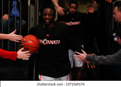 NEW YORK-MAR 10: Cincinnati Bearcats guard Cashmere Wright (1) enters the Big East tournament championship game against the Louisville Cardinals on March 10, 2012 at Madison Square Garden in New York.