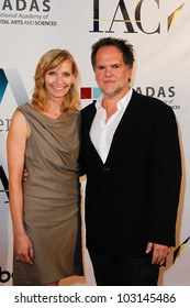 NEW YORK-MAY 17: Founding partner and co-owner of DiGa, Tony DiSanto and his wife attend the IAC And Aereo Official Internet Week New York HQ Closing Party at IAC HQ on May 17, 2012 in New York City.