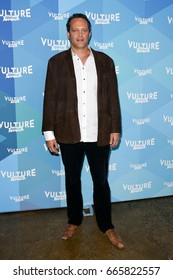 """NEW YORK-MAY 20: Actor Vince Vaughn attends the 'Tim Ferris and Vince Vaughn: In Conversation"""" during the 2017 Vulture Festival at Milk Studios on May 20, 2017 in New York City."""