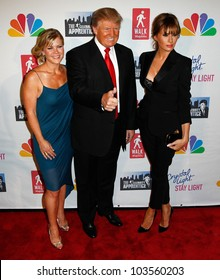 """NEW YORK-MAY 20: Allison Sweeney, Donald Trump and wife Melania attend the """"Celebrity Apprentice"""" Live Finale at the American Museum of Natural History on May 20, 2012 in New York City."""