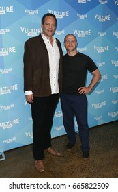 """NEW YORK-MAY 20: Vince Vaughn (L) and Tim Ferriss attend the 'Tim Ferris and Vince Vaughn: In Conversation"""" during the 2017 Vulture Festival at Milk Studios on May 20, 2017 in New York City."""