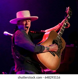 NEW YORK-MAY 25: Kiefer Sutherland performs in concert at the Bowery Ballroom on May 25, 2017 in New York City.