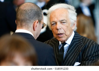 NEW YORK-MAY 5: Designer Ralph Lauren (R) attends the ribbon cutting ceremony for the Anna Wintour Costume Center Grand Opening at the Metropolitan Museum of Art on May 5, 2014 in New York City.
