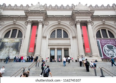 New York/New York/USA - Mai 31 2018: Partial view The Metropolitan Museum of Art in Manhattan
