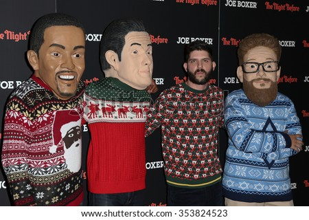 "NEW YORK-NOV 16: Director Jonathan Levine (2nd R) and walkabouts attend the screening of Columbia Pictures' ""The Night Before"" at Landmark Sunshine Theater on November 16, 2015 in New York City."