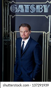 """NEW YORK-NOV 18: Actor Leonardo DiCaprio attends the premiere of """"The Great Gatsby"""" at Avery Fisher Hall on May 1, 2013 in New York City."""