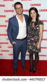 NEW YORK-NOV 18: Actress Samantha Massell (R) and Sean Kleier attend the 2016 Campari Calendar Launch Event at The Standard Hotel on November 18, 2015 in New York City.