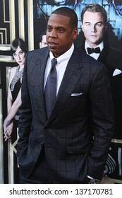 """NEW YORK-NOV 18: Singer and producer Shawn """"Jay-Z"""" Carter attends the premiere of """"The Great Gatsby"""" at Avery Fisher Hall at Lincoln Center on May 1, 2013 in New York City."""