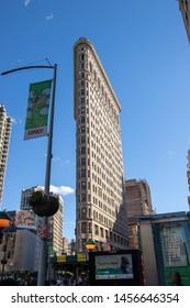 New York,NY/USA-April 15,2019. Iconic Flatiron Building .