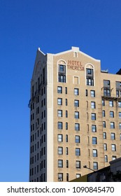 New York,NY,USA-September 13,2016: Hotel Theresa: The Hotel Theresa, located in the Harlem neighborhood,  was, a historical hotel for African American cultures.