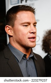"""NEW YORK-OCT 10: Actor Channing Tatum attends the """"Foxcatcher"""" premiere at the 52nd New York Film Festival at Alice Tully Hall on October 10, 2014 in New York City."""