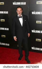NEW YORK-OCT 9: Actor Andrew Lincoln attends AMC's 'The Walking Dead' season six premiere at Madison Square Garden on October 9, 2015 in New York City.