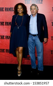 """NEW YORK-SEP 10: Grace Hightower and Robert DeNiro attend """"The Family"""" world premiere at AMC Lincoln Square Theater on September 10, 2013 in New York City."""