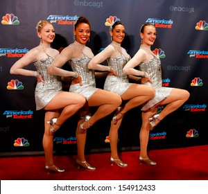 """NEW YORK-SEP 18: The Rockettes at the post-show red carpet of """"America's Got Talent: The Finale"""" Season 8 at Radio City Music Hall on September 18, 2013 in New York City."""