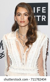 NEW YORK-SEPT 08: Model Kaia Gerber attends Daily Front Row's Fashion Media Awards at Four Seasons Hotel New York Downtown on September 8, 2017 in New York City.