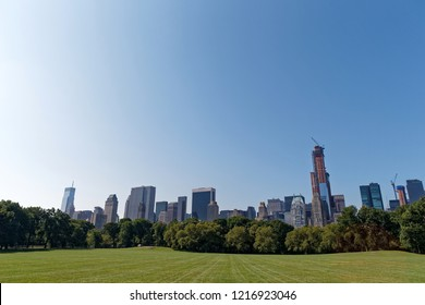 New York/United States-2012.08.16: Sheap Meadow in Central Park, New York City.