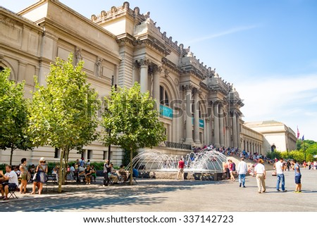 NEW YORK,USA - AUGUST 18,2015 : The Metropolitan Museum of Art in New York City