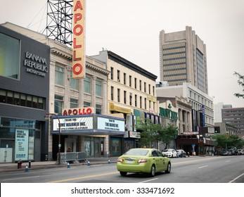 NEW YORK,USA - JUNE 16,2015 : historic Apollo Theater in Harlem, New York City