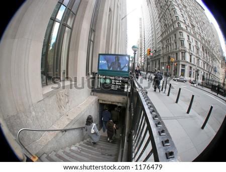 new yotk sybway manhattan wall street stock photo edit now 1176479